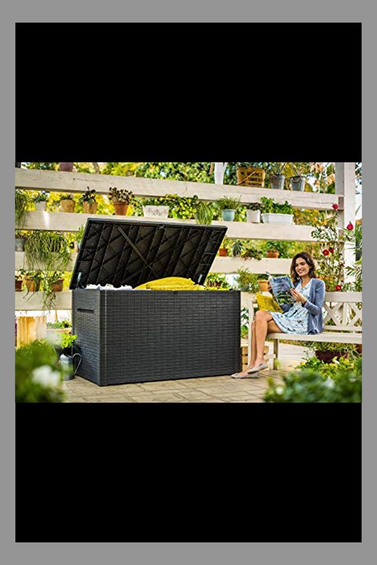 Keter Java Xxl 230 Gallon Outdoor Storage Deck Box Grey In 2020