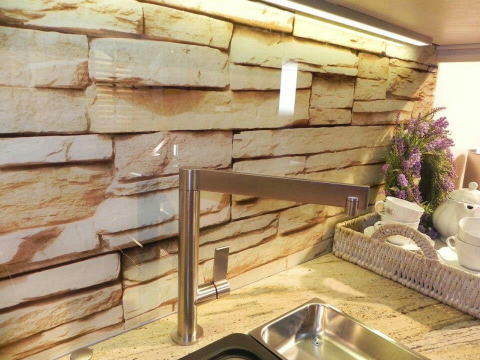 Küchenspritzschutz mit Folien Motiv Stein Glas Image Pinterest