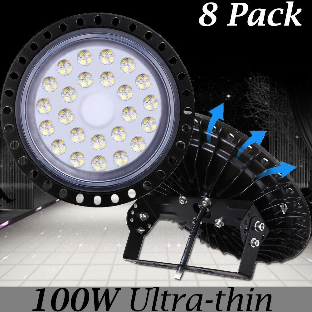 100W UFO LED High Bay Lights Super Bright Factory Warehouse Shop GYM Lighting