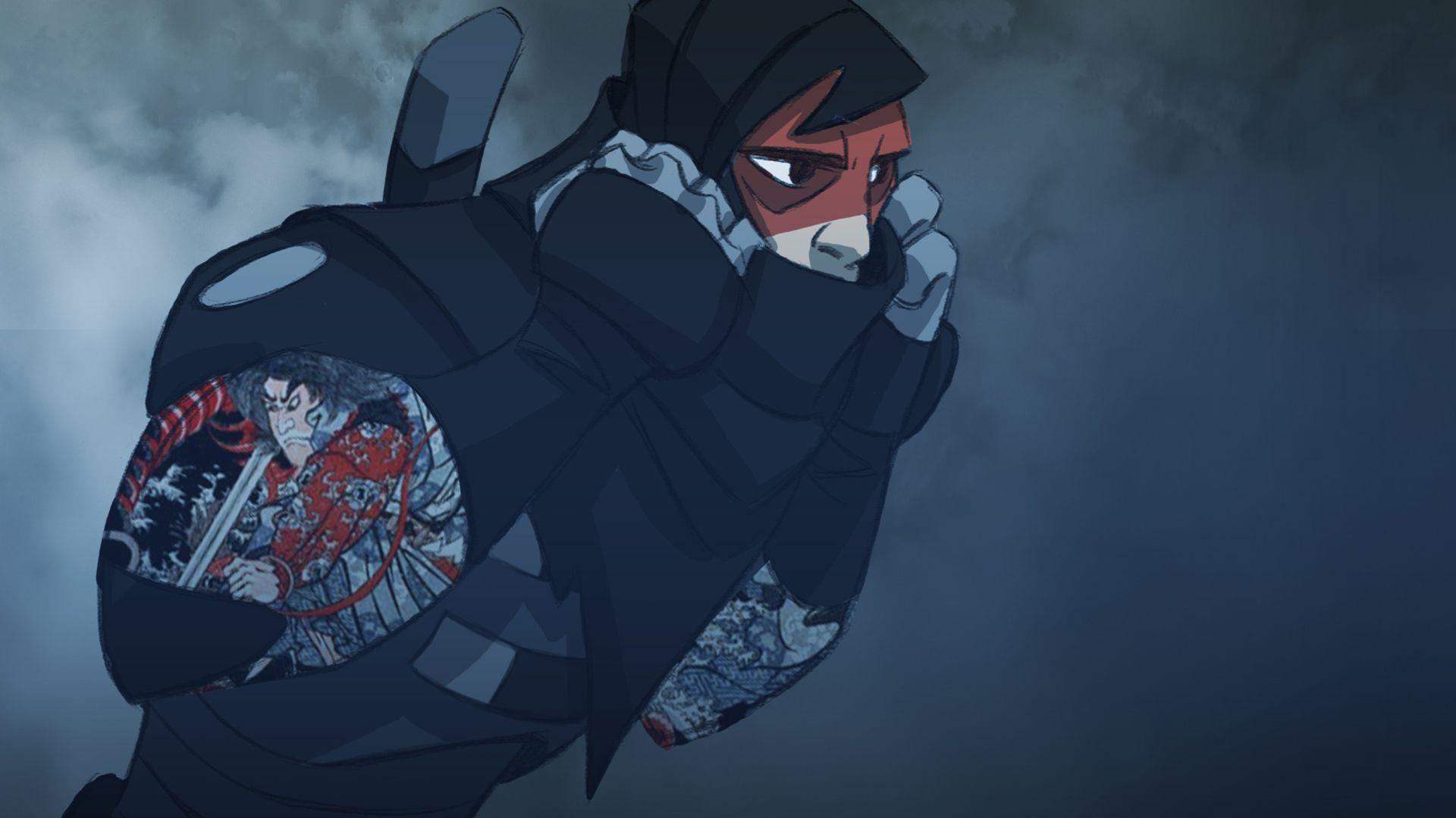 Mark of the Ninja Steam Card 9/9 Masked Ninja art