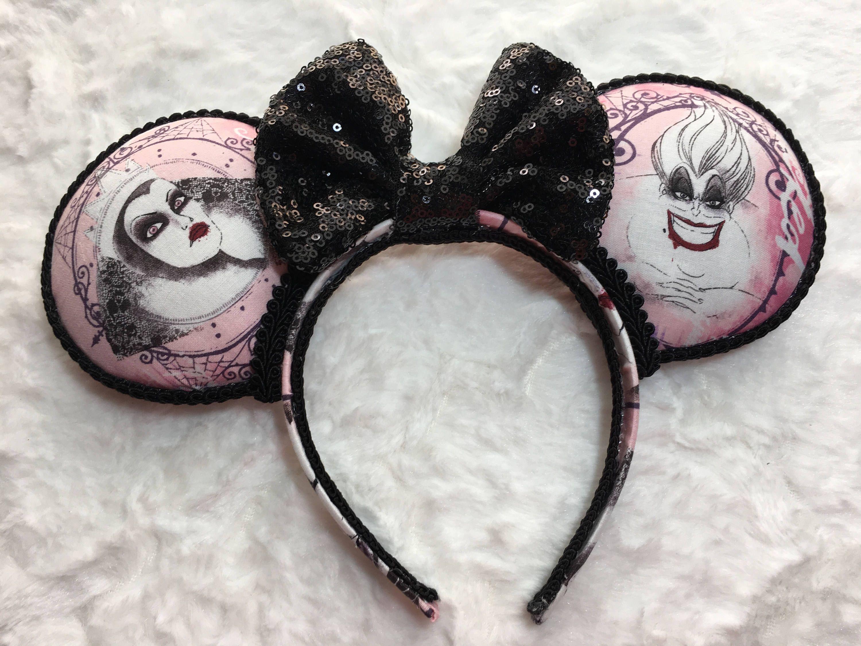 Villain Ears, Disney villains, Maleficent, Ursula, Cruella #disneyvillains