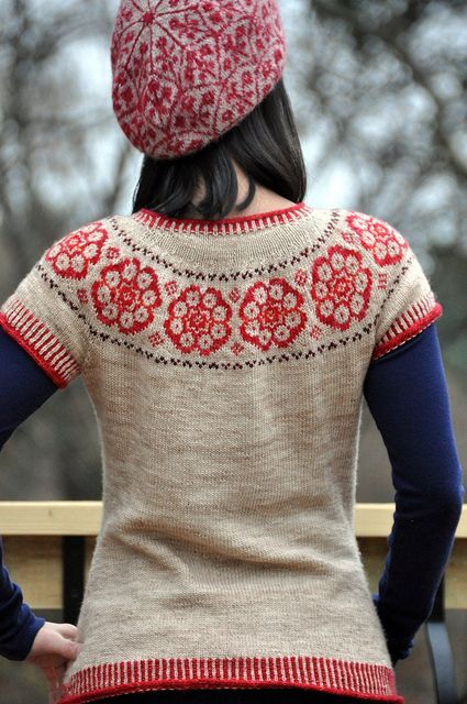 fair isle yoke ~ pattern 'Paper Dolls' by Kate Davies on Ravelry ...