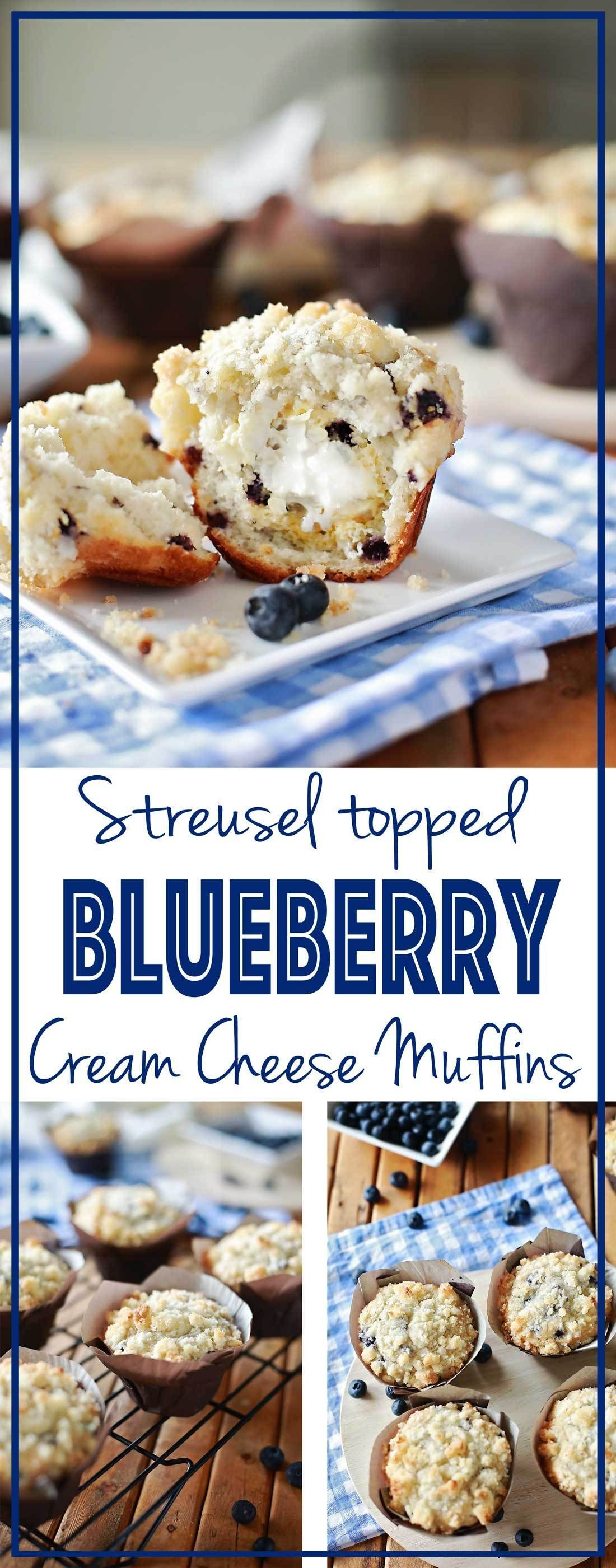 Streusel Topped Cream Cheese Blueberry Muffins | Tangled with Taste  The best Blueberry Muffins EVE