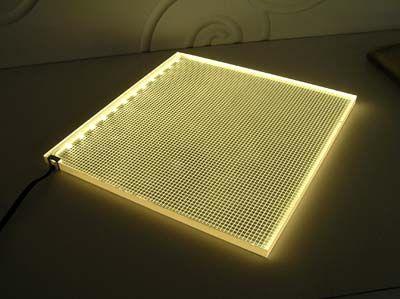flat led light panel illuminated
