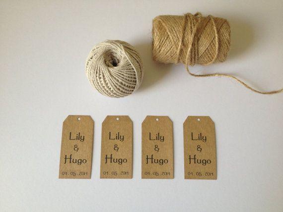 DIY Printable Custom Wedding Favor Tags by kismetologie on Etsy, $8.00