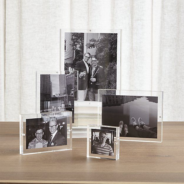Acrylic Block Picture Frames Crate And Barrel Beautiful Houses Interior Picture Frames Decor