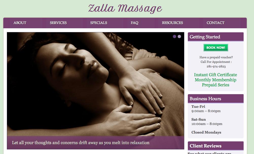 Zalla Massage Houston Tx Deep Tissue Massage Couples Massage