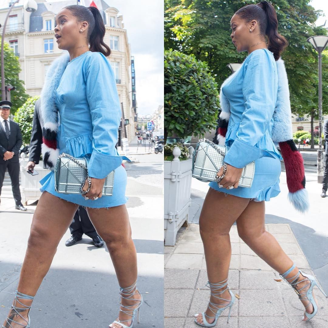 Singer Rihanna was shocked by a plump figure with cellulite 04/15/2017 16