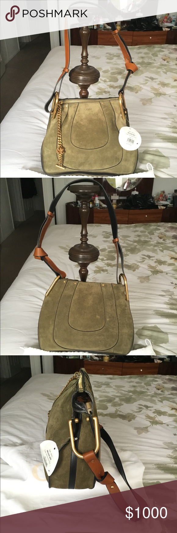 77a06ab67d NWT Authentic Chloe Hayley Suede Hobo Bag 💯 NWT Authentic Chloe Hayley  Olive Green Suede