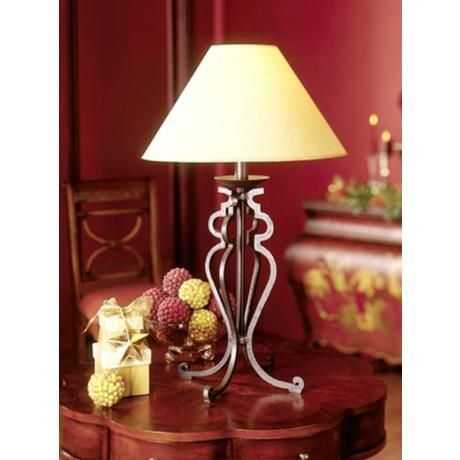 Open Scroll Rustic Wrought Iron Table Lamp 88553 Lamps Plus