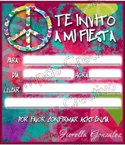 Invitations Love And Peace Invitación De Amor Y Paz