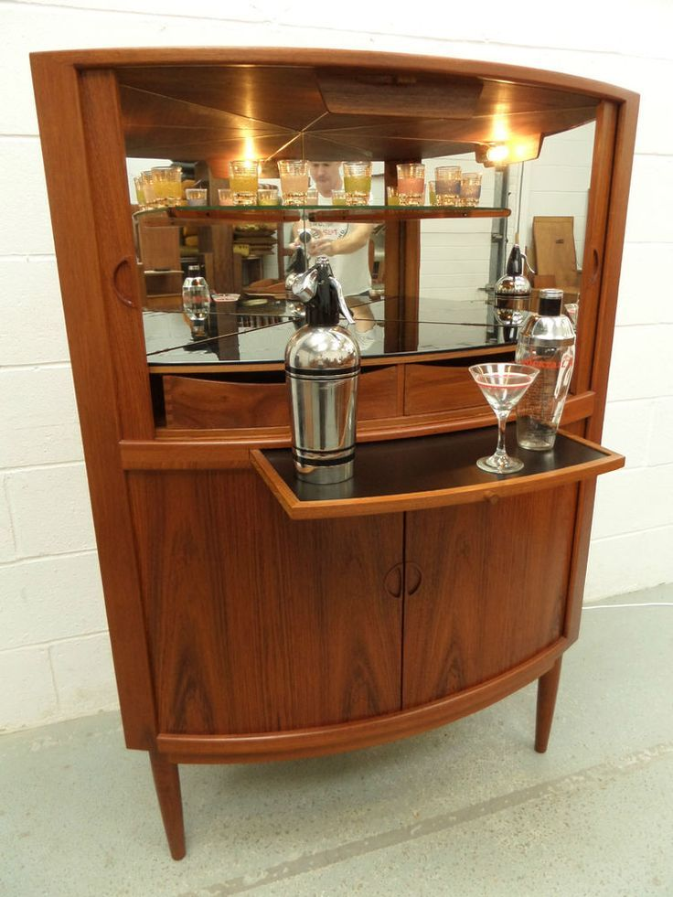 Danish Mid Century Retro Vintage 50s 60s Cocktail Drinks Cabinet Home Bar Drinks Cabinet