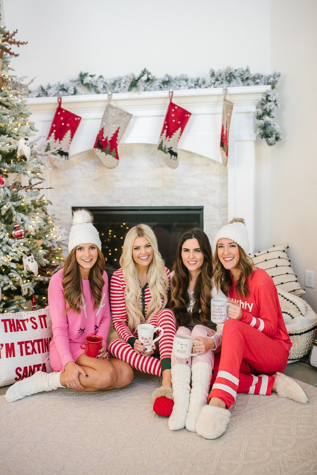 Day 1: Christmas Pajama Party | It's All Chic to Me | Houston Fashion Blogger | Style Blog -   17 christmas photoshoot woman ideas