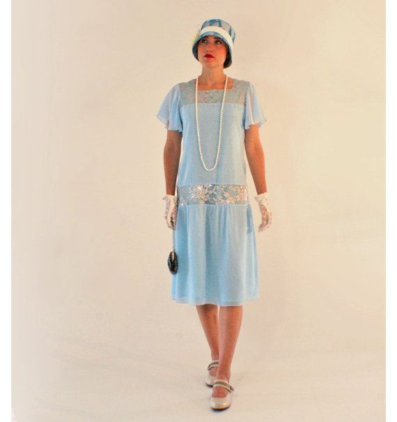 Hey, I found this really awesome Etsy listing at https://www.etsy.com/listing/452325936/sweet-light-blue-great-gatsby-dress