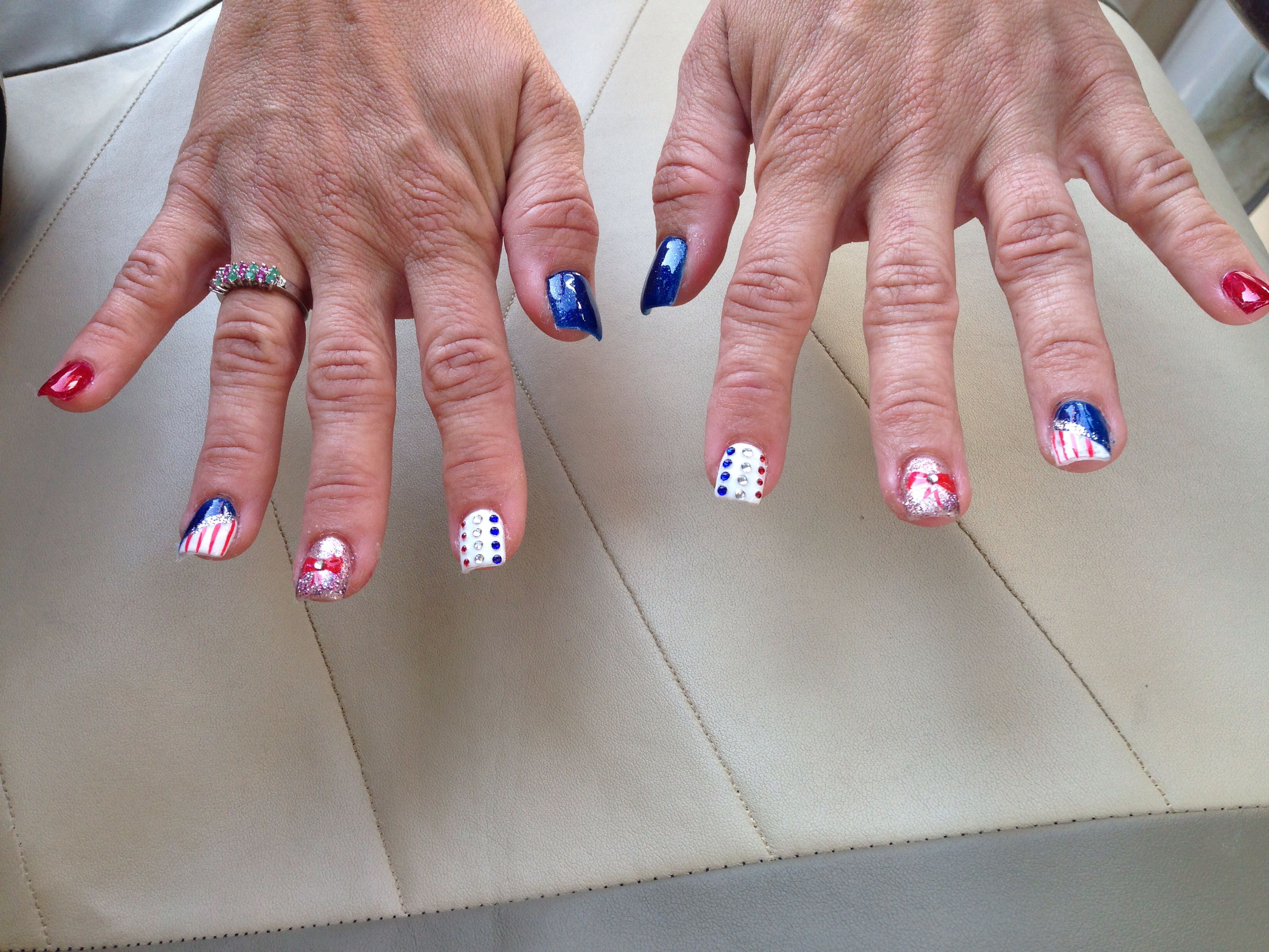 My nails 4th of July
