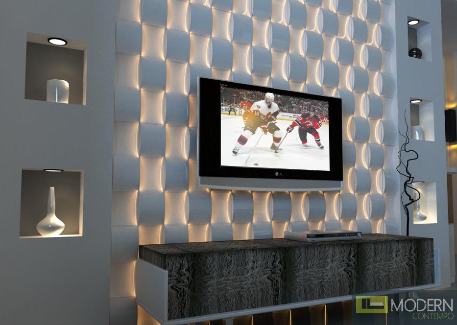 Textured Surface Blocks 3d Wall Led Panel 3d Wall Panels