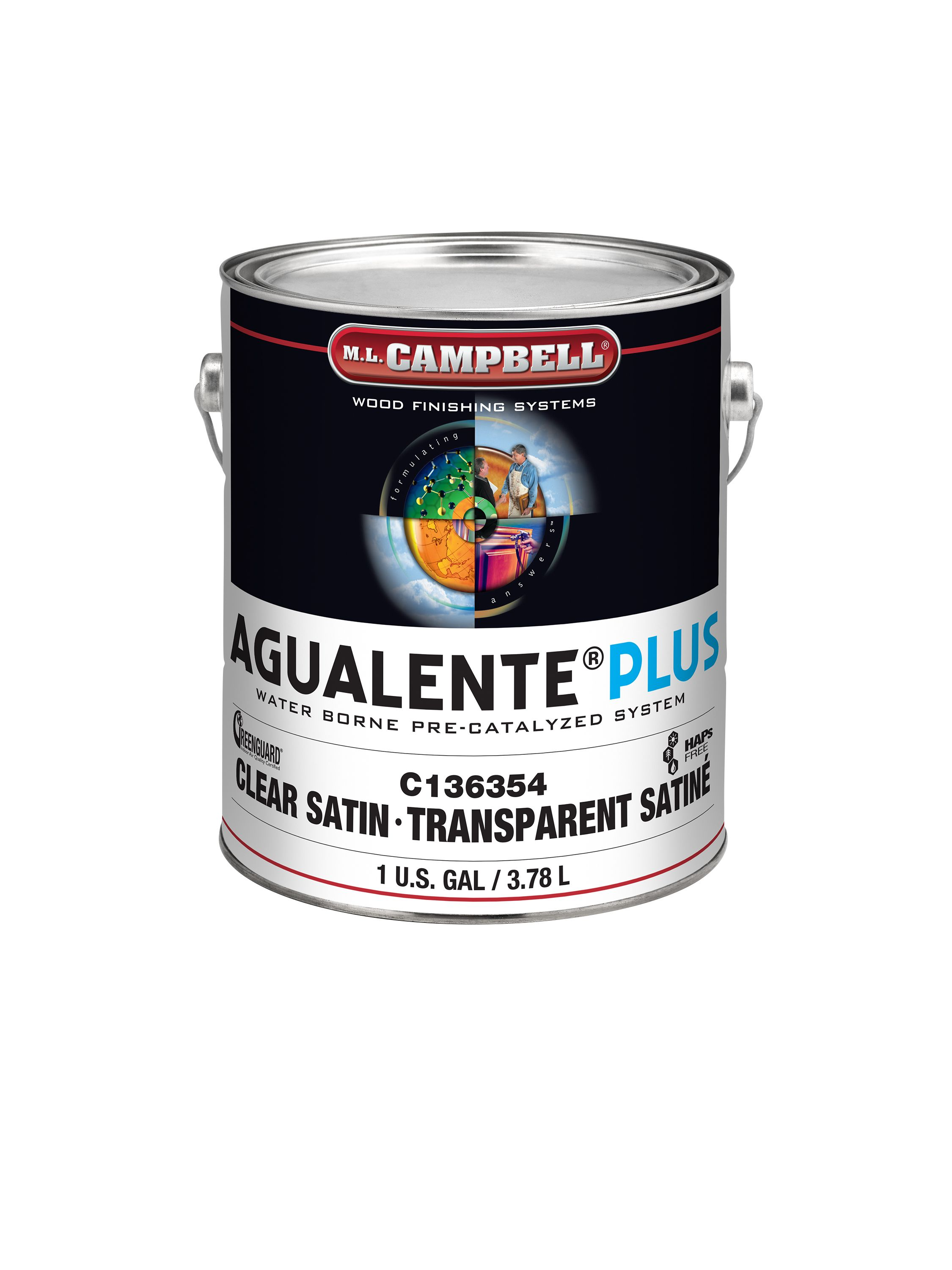 Agualente Plus Clear Kitchen And Bath Wood Surface Sealer