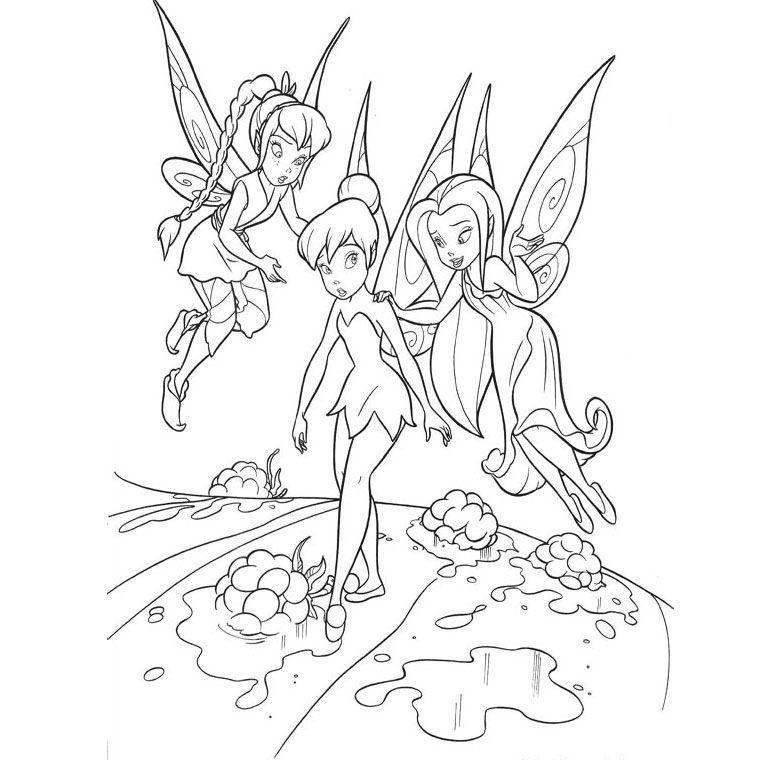 Coloriage ffée clochette et ses amies | la fée clochette | Pinterest ...