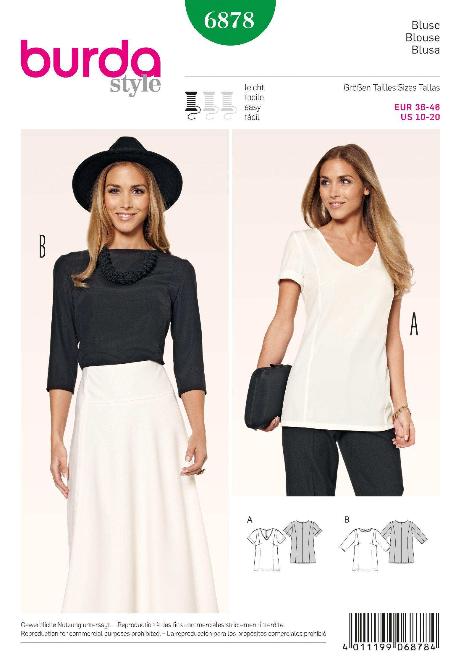 Burda 6878 circa 2015. I really like the blouse with the dart ...