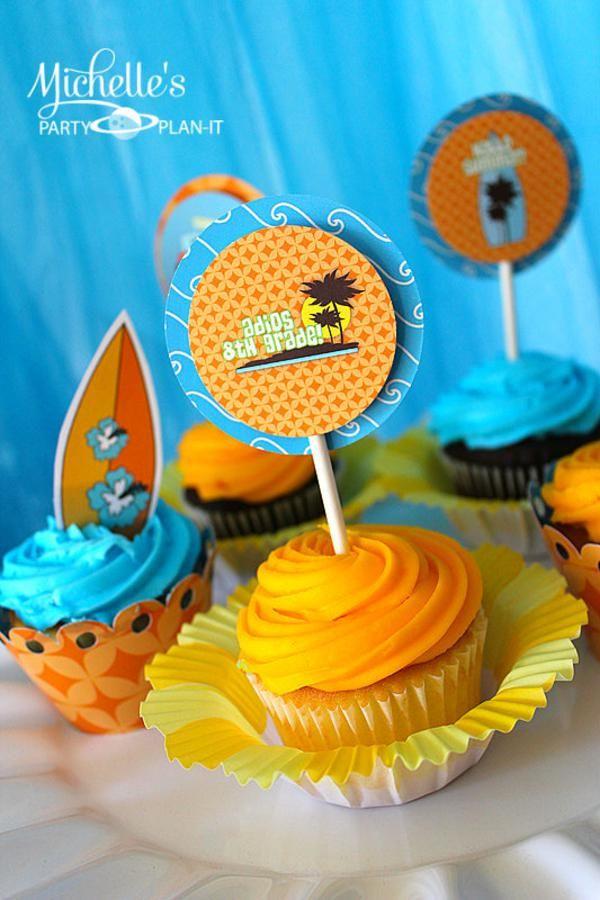 Hello Summer Surf Party via Kara's Party Ideas   KarasPartyIdeas.com #hello #summer #surf #beach #party #ideas (11)