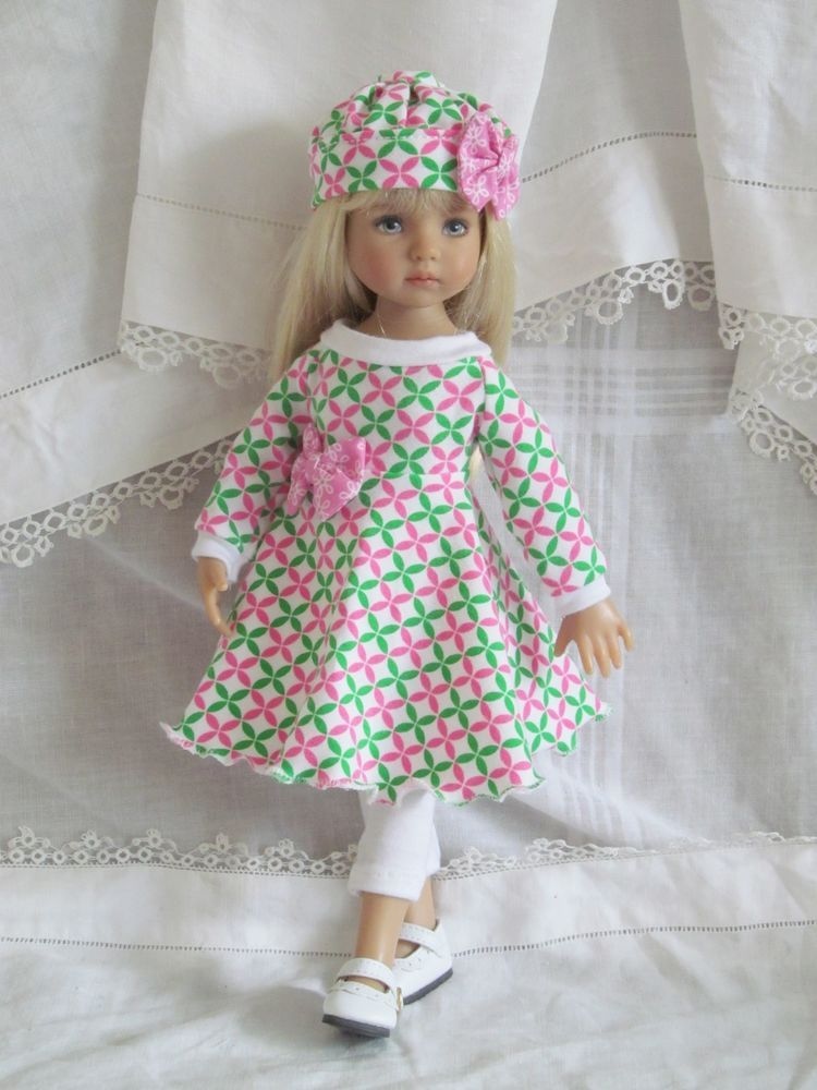 """13"""" Effner Little Darling BJD fashion pink & white baby doll set handmade by JEC #ClothingAccessories"""