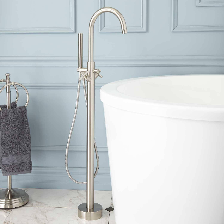 Nerin Gooseneck Freestanding Tub Faucet | Freestanding tub, Tubs and ...