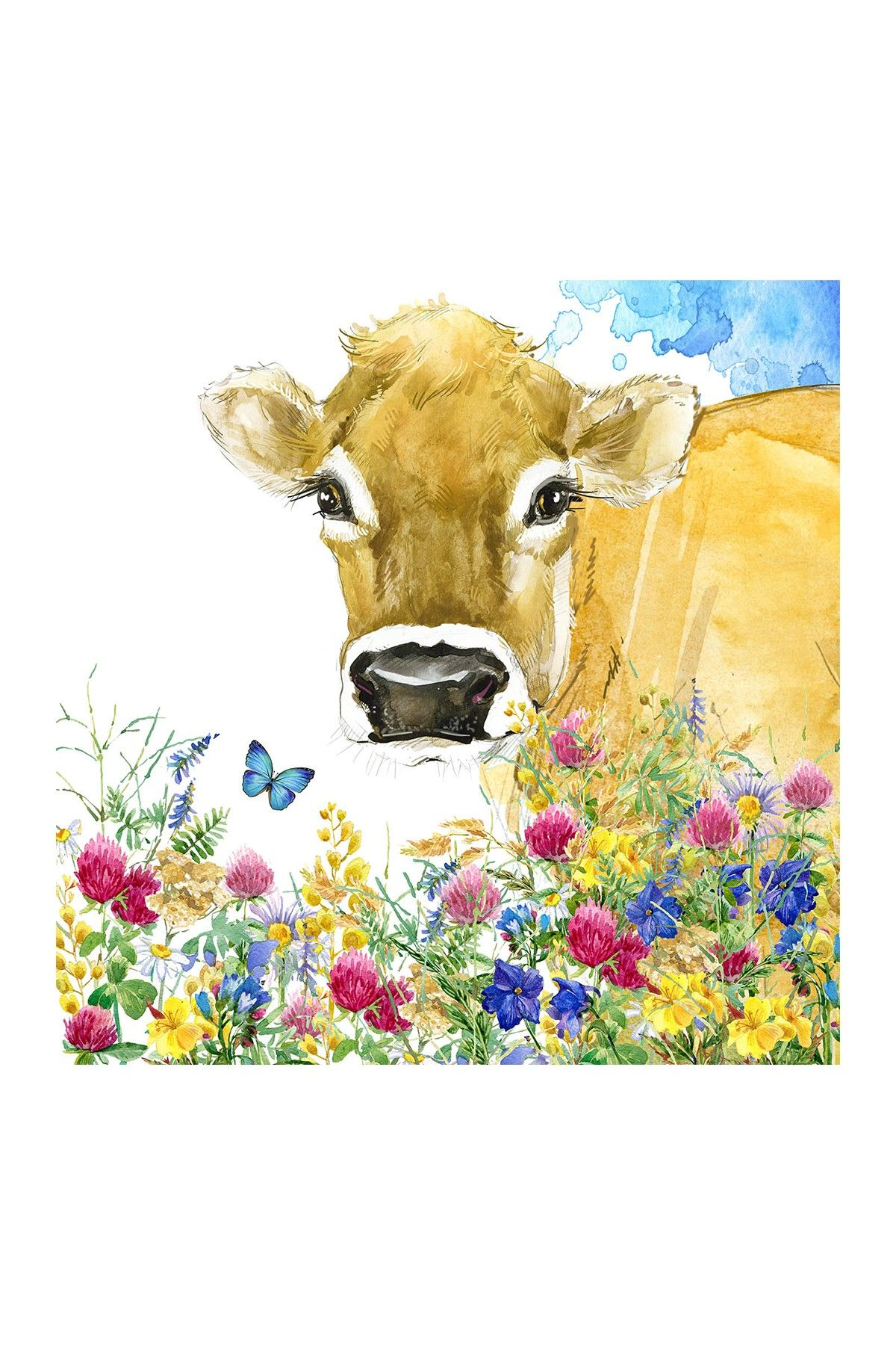 Cow Canvas Painting - 20\