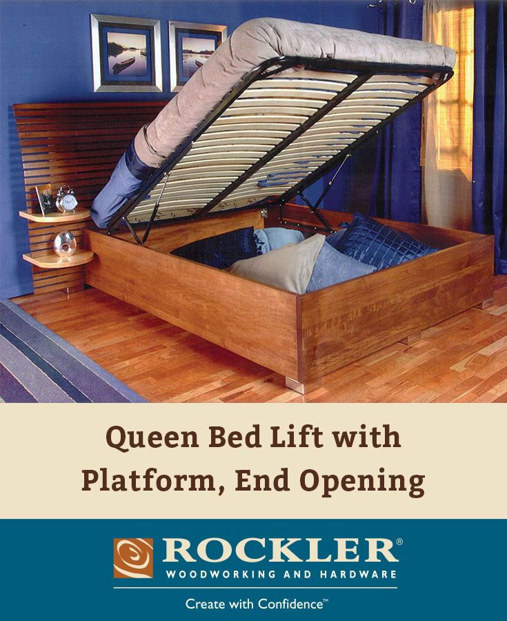 Queen Bed Lift with Platform, End Opening Bed lifts