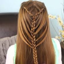 resultado de imagen para peinados faciles con trenzas para nias paso a paso