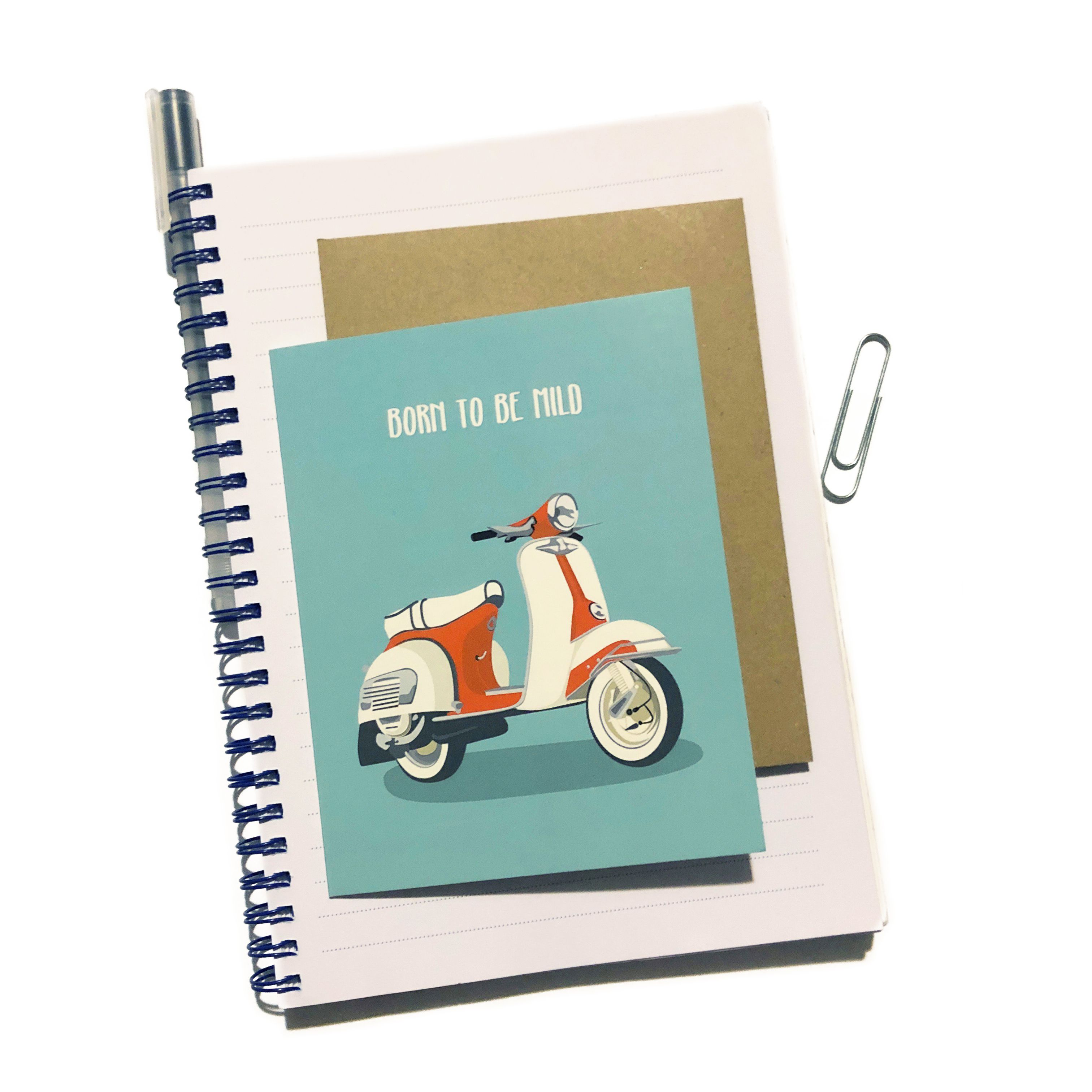 Scooter Birthday Card / Born to be Mild / Scooter