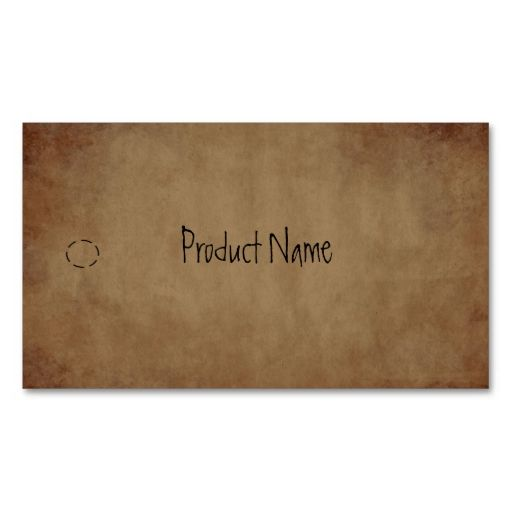 Primitive Paper Hang Tag Business Card Template This is a fully - hang tag template