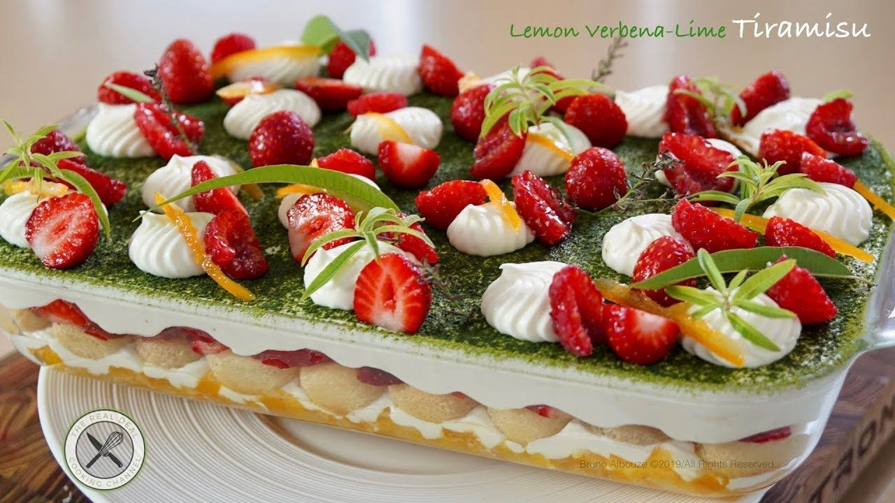 Lemon Verbena-Lime Tiramisu / 30min Dessert –Bruno Albouze