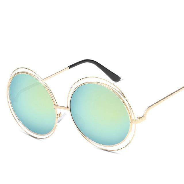 05dbc58b67d5 Luxury Round Sunglasses Women Brand Designer 2019 Vintage Retro Oversized  Sunglass Female Sun Glasses For Women Sunglass Mirror
