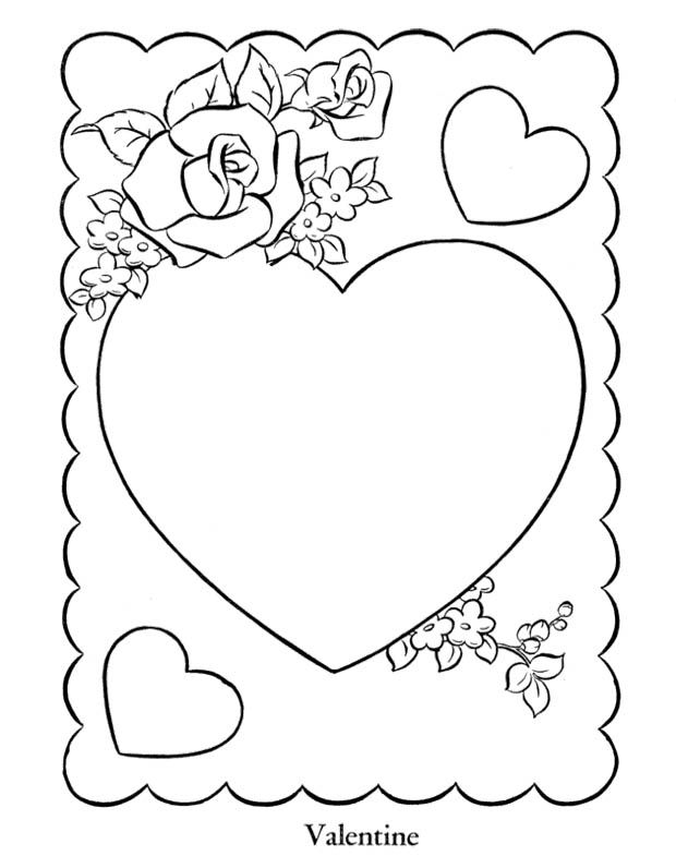 Heart Valentine S Cards Coloring Page Valentines Day Coloring