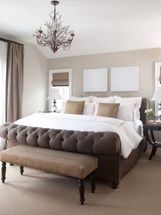 Cream Brown Bedroom Needs An Accent Color To Pop Maybe Red C Or Turquoise