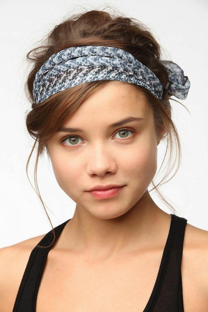 jolie coiffure petite fille headband Idee coiffure