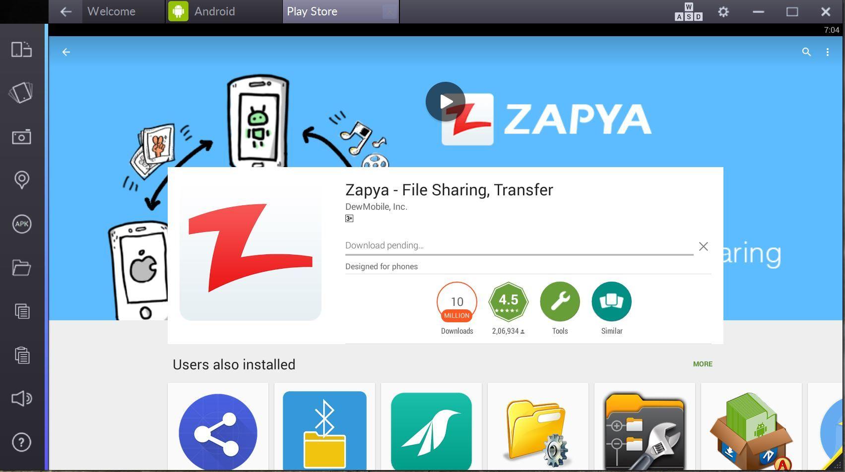 Zapya für PC Online Kostenloser Download (Windows 7, 8, 8