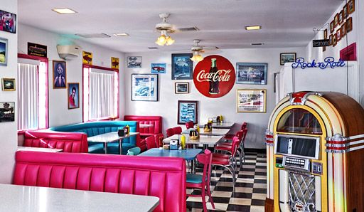 50's style American diner, USA Kitchen inspiration | american diner