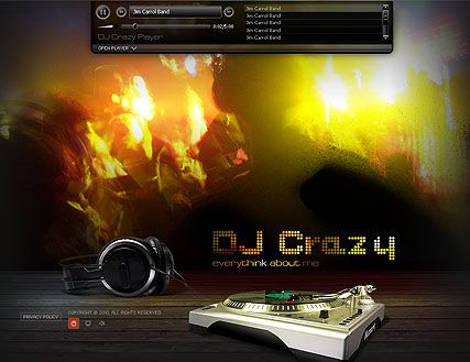 Free Dj Website Templates Geccetackletartsco - Dj website templates