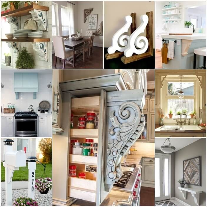 30 Low Cost Ways To Update Your Home With Corbels