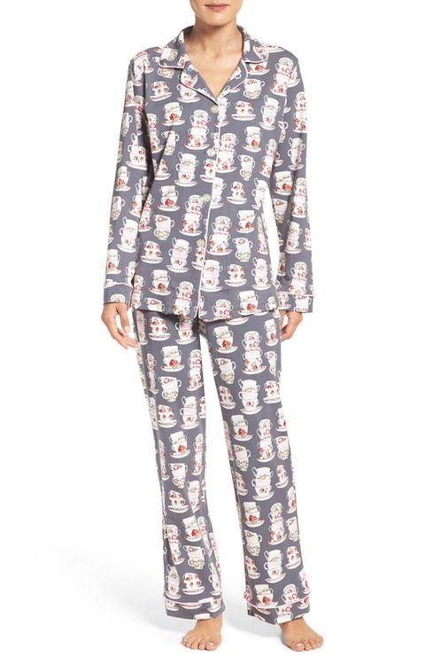 2c860d2d38 Tea cozy. This teacup print pajama set is perfect for cuddling up ...