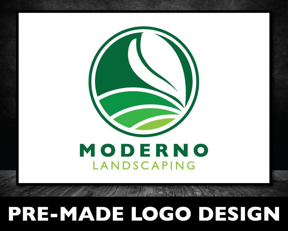 Green Lawn Care Logo Landscaping Logo Modern Logo Design Etsy In 2020 Landscaping Logo Green Logo Design Lawn Care Logo