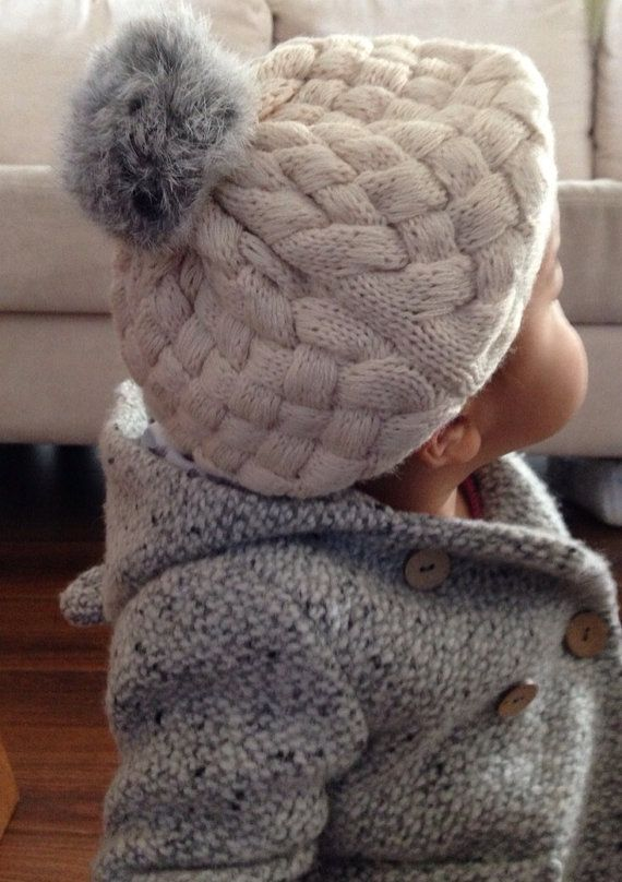 Handmade Pink Toddler and Kid Knitted Beret by soheeshop on Etsy