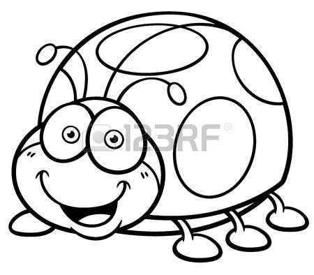 Ilustraci n vectorial de dibujos animados Lady bug - Libro para ...