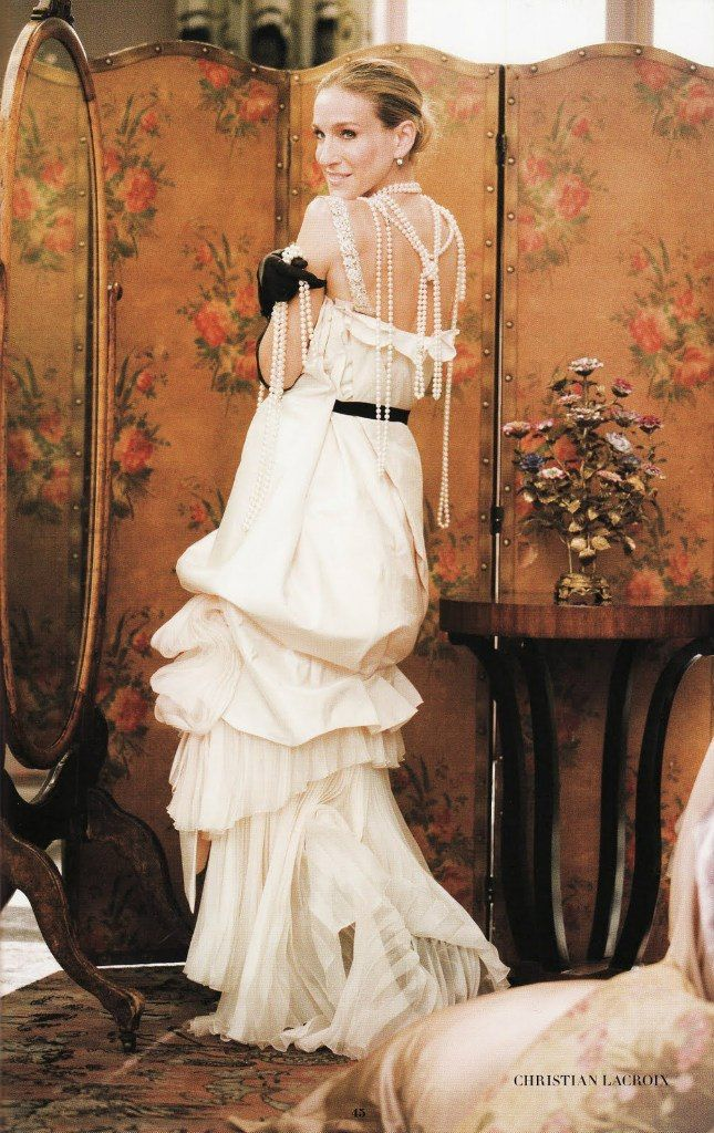My Dream Wedding Dress Pink Lacroix As Worn By Sjp In Satc Movie