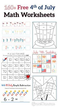 160 Fourth Of July Printable Math Worksheets Igamemom Holiday Math Free Math Holiday Math Activities