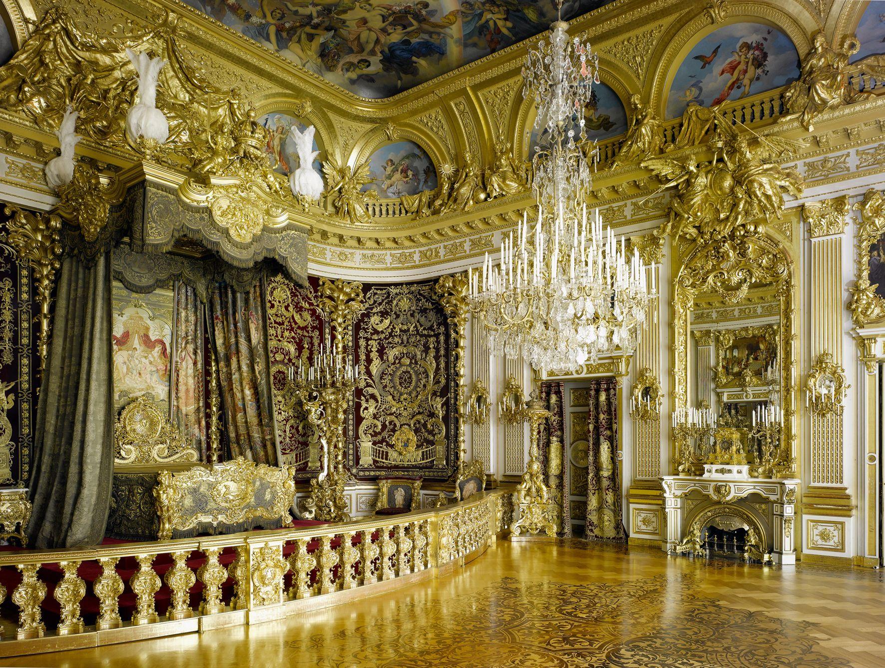 Neues Schloss Herrenchiemsee Paradeschlafzimmer Neues Schloss Herrenchiemsee Herrenchiemsee Palast Interior Schloss Nymphenburg