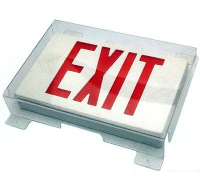 Morris Products Vandal Environmental Shield Guard For Exit Light
