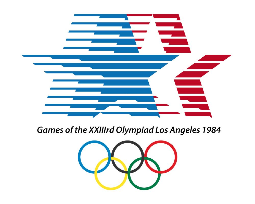Logo of the 1984 olympic games los angeles california Logo designers los angeles