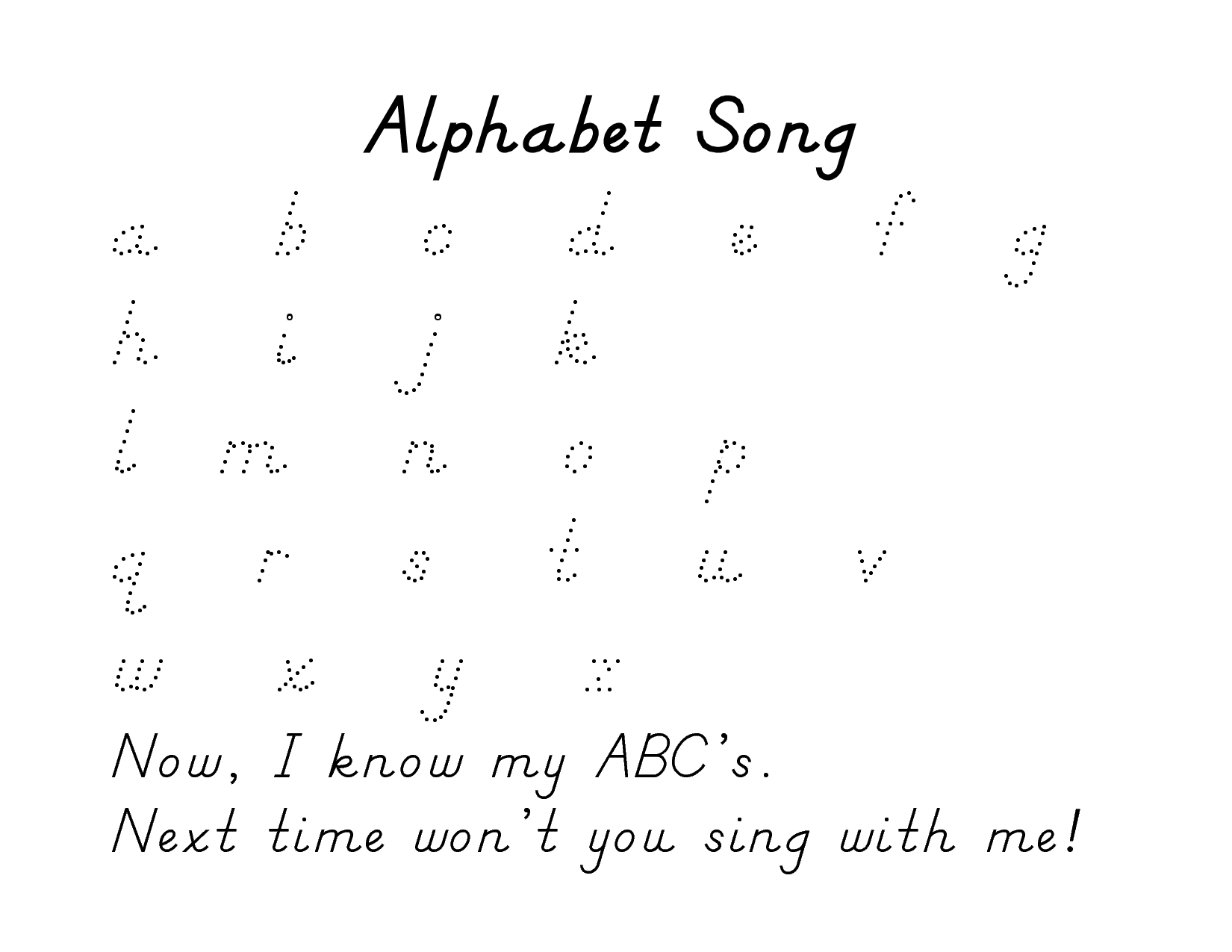 Alphabet Tracing Pages Printable